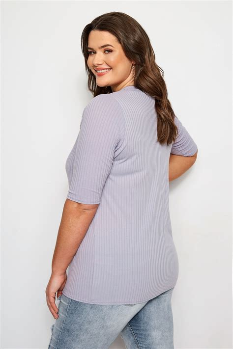 limited out 3 days in row limited collection plus size lilac ribbed top sizes 16