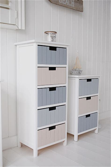 Bathroom Storage Cabinets Uk Free Standing Bathroom Tallboy Cabinet Furniture With 5 Drawers 1