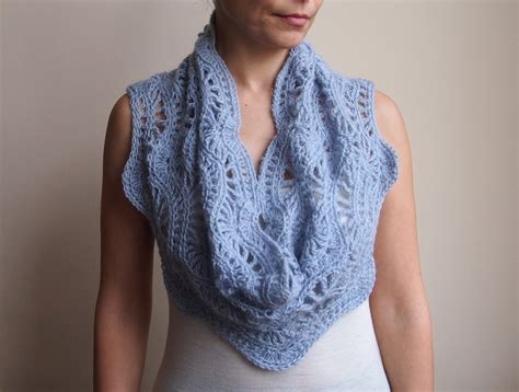 lace infinity scarf crochet pattern crochet and knit
