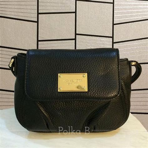 Ready Stock New Arrival Michael Kors Crossbody Ghw Summer 2017 michael kors small flap leather crossbody bag black polka b authentic luxury you can afford