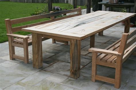 oak garden bench oak garden table and benches