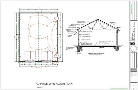 36 x 46 workshop garage floor plans blueprints
