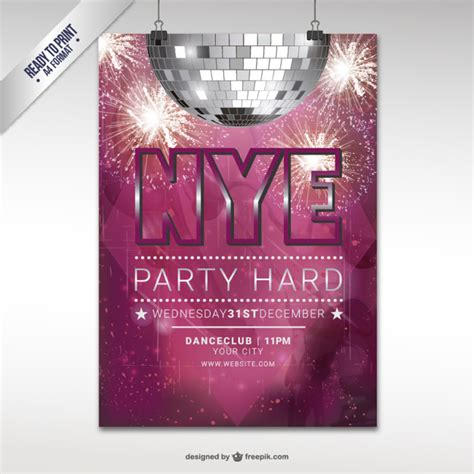 new year cmyk cmyk new year flyer template vector free
