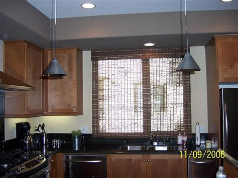 modern kitchen window treatments modern kitchen with timeless woven wood roman shades