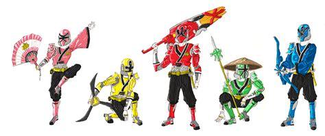 painting of power rangers samurai samurai rangers advanced by baddogg on deviantart
