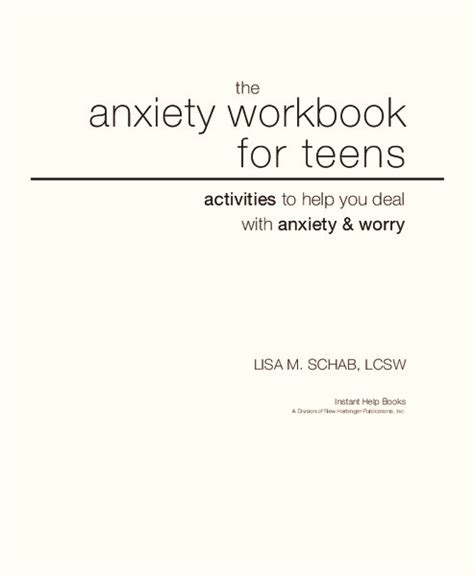 Anxiety Worksheets For