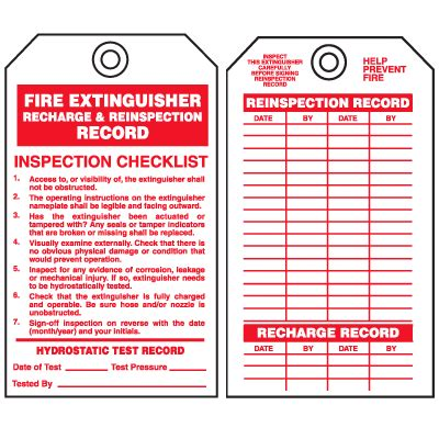 printable fire extinguisher tags safety inspection tags fire extinguisher recharge