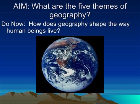 5 themes of geography lyrics five themes of geography