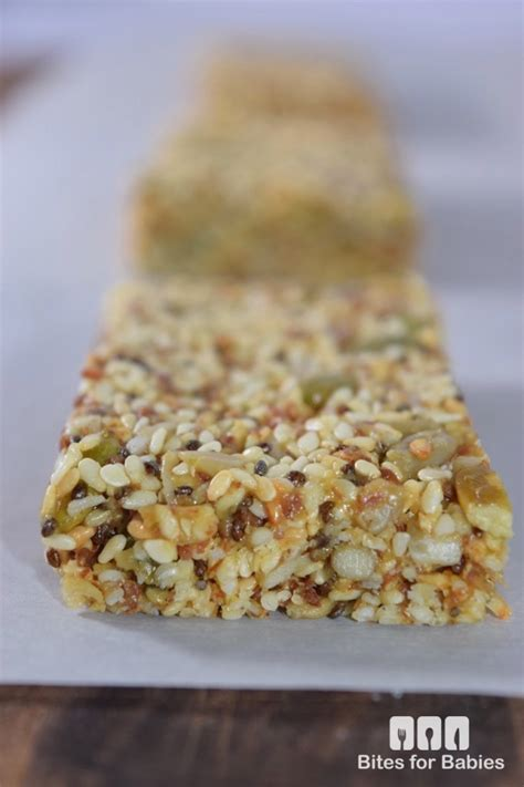 Healthy Seed Bar chewy sesame seed bars recipe bites for foodies