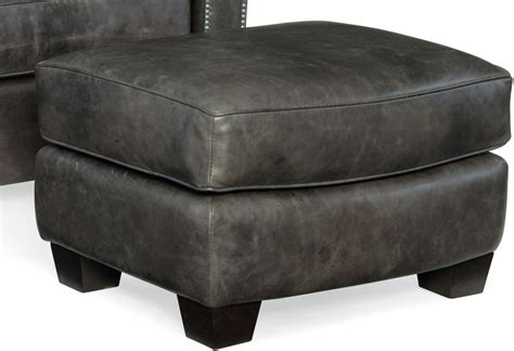 ottoman for gray trellis gray leather ottoman from coleman furniture