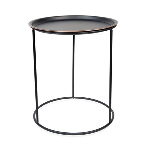 tavolino divano tavolino da divano nero in metallo d 40 cm gary black