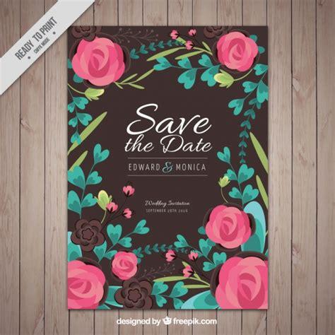 Kostenlose Vorlage ã Karte Hochzeit Hochzeit Karte Mit Der Kostenlosen Vektor