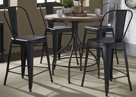 dining room pub tables opt 5 piece gathering table set by liberty furniture