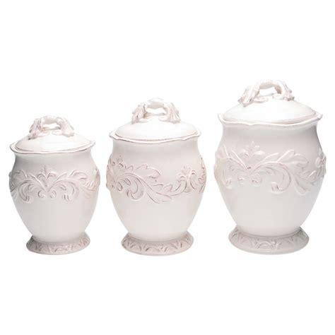 3 piece ivory ceramic canister set kitchen home storage can organizer mini new ebay certified international firenze 3 piece canister set