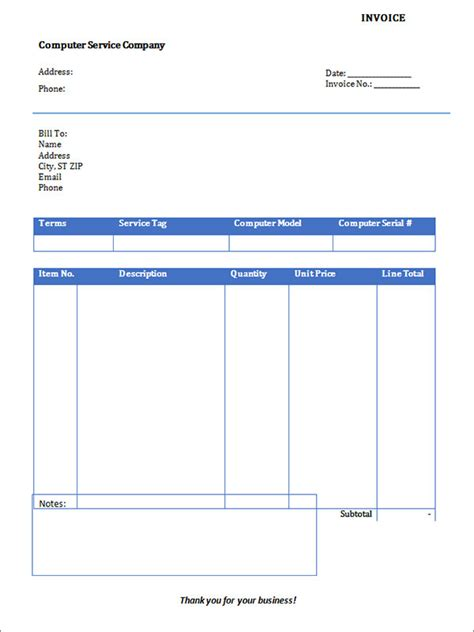 service invoice 28 download documents in pdf word