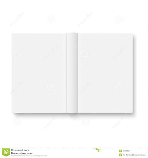 open book template for card blank opened book template with soft shadows stock images