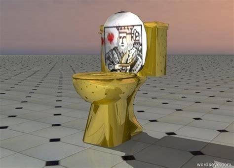 toilet in cing royal flush by rws on wordseye