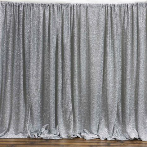 backdrop curtains 20 feet x 10 feet metallic silver spandex backdrop curtain
