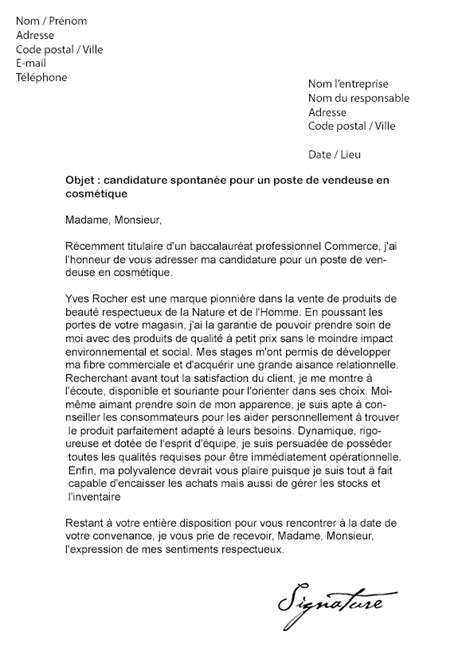 Lettre De Motivation Vendeuse Nature Et Decouverte Lettre De Motivation Yves Rocher Vendeuse En Cosm 233 Tique