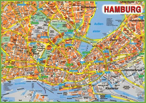 tourist attractions map hamburg tourist attractions map
