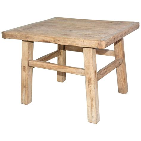 Rustic Teak Coffee Table Rustic Teak Indoor Or Outdoor Coffee Table Or Seat For Sale At 1stdibs