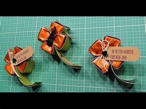 anleitung kleeblatt mit ferrero kuesschen mit stamp youtube