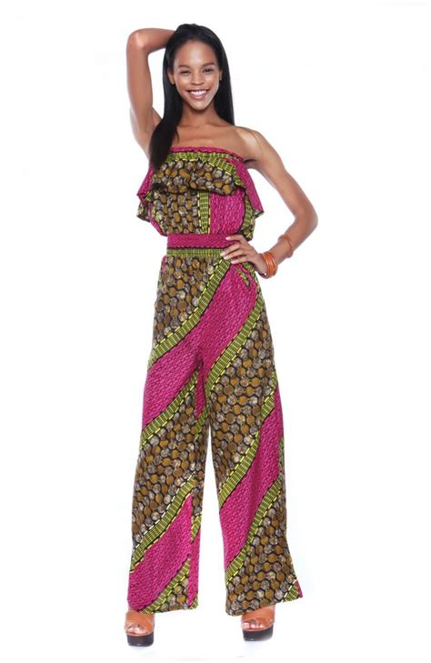 african jumpsuits style pink coconut jumpsuit african fashion pinterest