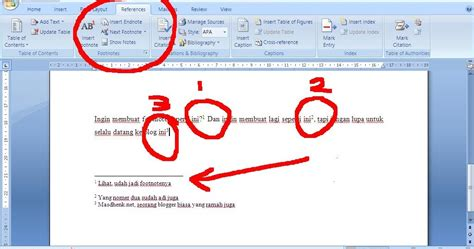cara membuat catatan kaki microsoft word 2013 bagaimana caranya cara membuat footnote atau catatan