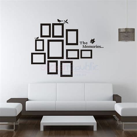 how to stick photo frames on wall without nails the memories photo frame wall decal