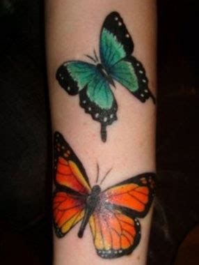 tattoo butterfly green orange and green butterfly tattoo tattoomagz
