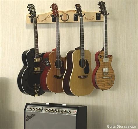 Multi Guitar Wall Rack the pro file wall mounted multi guitar hanger