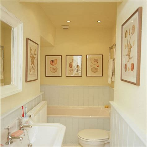 Yellow Bathroom With White Suite And Tongue And Groove Panelling Housetohome Co Uk