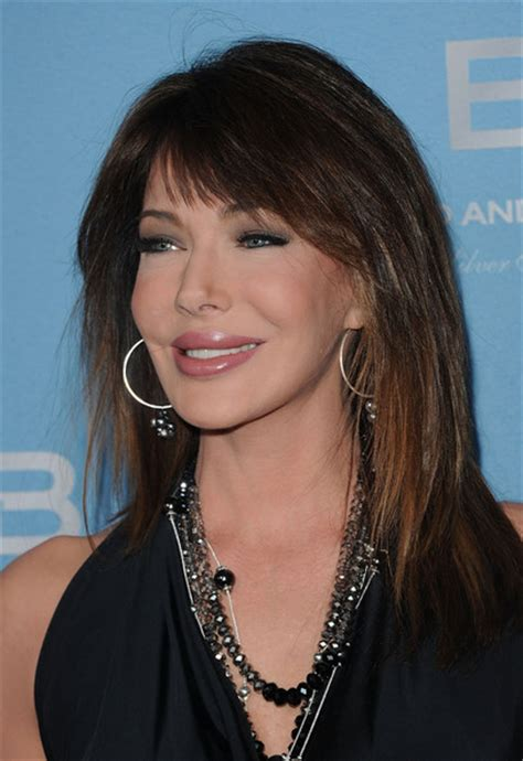 hunter tylo blackhair more pics of hunter tylo long straight cut with bangs 5