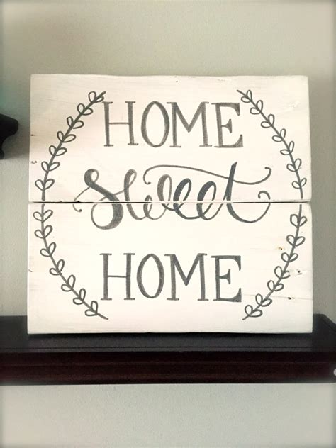 home sweet home decor rustic home decor home sweet home sign rustic pallet sign