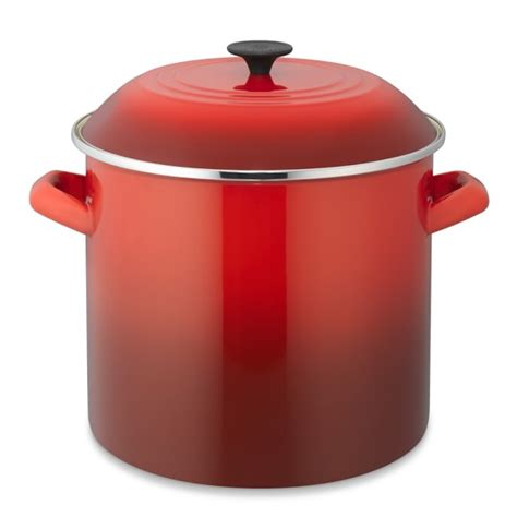 creuset pot le creuset enameled steel stock pot williams sonoma