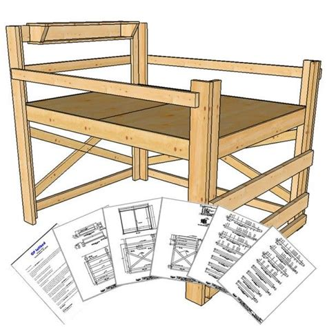 queen size loft bed plans medium height loft beds