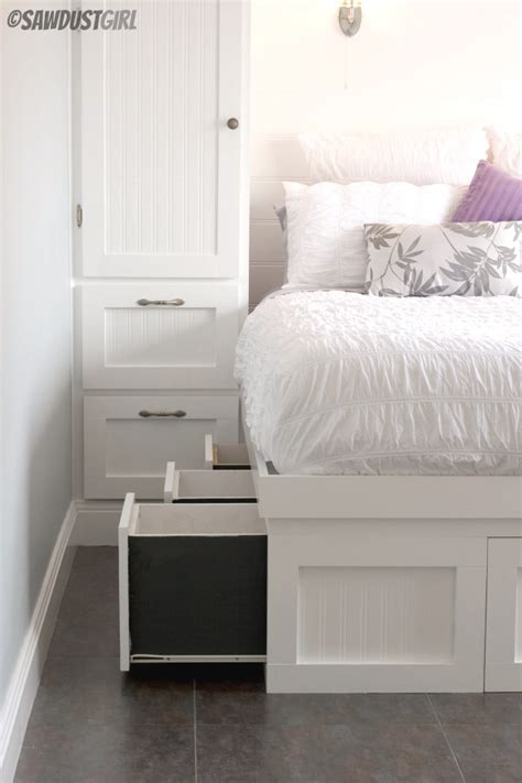 built  wardrobes  platform storage bed sawdust girl