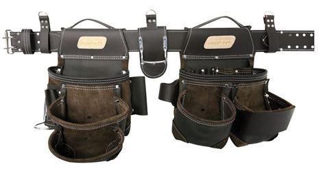 tool belt setup awp general construction leather tool rig adjustable belt
