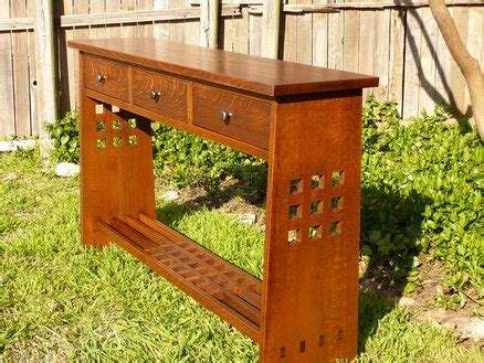 arts and crafts sofa table arts and crafts sofa table by tbone lumberjocks