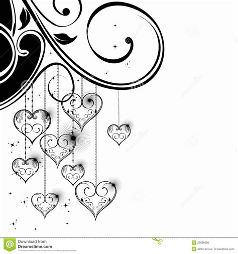 black and white valentine heart stock photo image 23088580