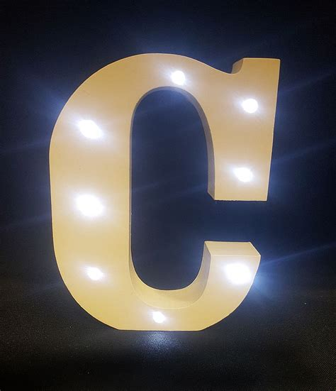 light up letters to buy buy wooden led light up letter white c from chair cover