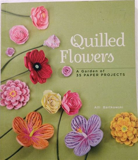 quilling books quilled flowers book paper craft book quilling