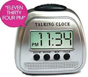 blind alarm clock talking time alarm clock blind visually impaired