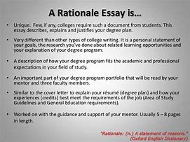 rationale of research paper