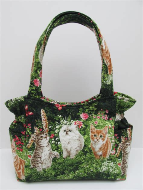 Quilted Purse by Medium Cat Purse Quilted Handbag Papillon Purse Shoulder