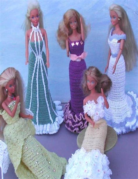 Crochet Evening Gown crochet fashion doll pattern 306 fashioned evening