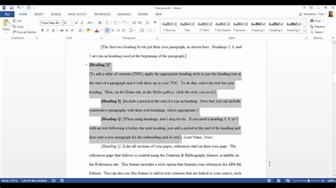 Apa Template In Microsoft Word 2016 Microsoft Word Apa Template