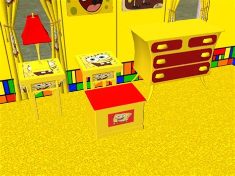 Spongebob Dresser by Mod The Sims Complete Spongebob Bedroom Set