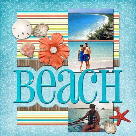 scrapbook layout beach ideas for scrapbookers new quot beach quot template