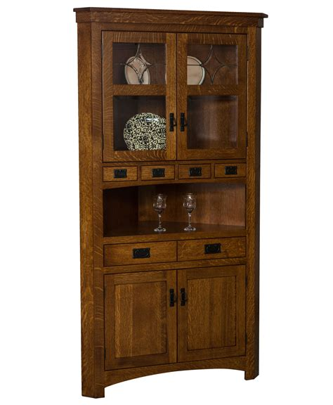 furniture curio cabinet cape cod corner curio cabinet amish direct furniture